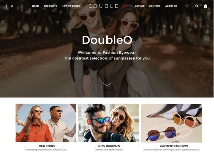 DoubleO จำหน่ายกรอบแว่นตา แว่นตาสายตา แว่นตากันแดด